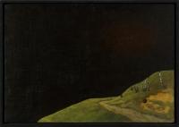 Öl auf Holz, 74,5 x 52,5 cm