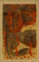 Tusche, Gouache, Öl, Papier, 2 Arbeiten, 82 x 140 cm