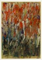 Collage, Farbige Tusche, Deckweiß auf Zeitungspapier