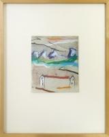 18 x 21 cm, Gouache,Ölkreide auf Papier 1998, signiert