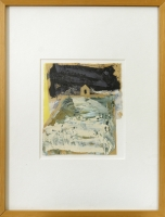 14 x 17,5 cm Collage,Öl auf Papier, 1992, signiert