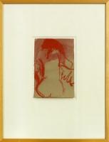 11,2 x 17 cm,Aquarell,Ölkreide auf Papier
