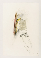 1988, Kohle, Ölkreide auf Papier, 47 x 66 cm