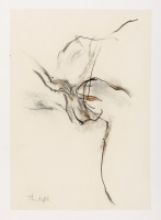 1986 Kohle, Buntstift auf Papier, 46 x 65 cm