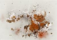 Deckweiß, Öl, Kohle auf Papier, 68 x 98 cm