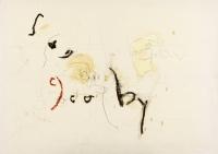 1995, Kohle, Öl auf Leinwand, 100 x 140 cm