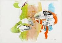 1998, Collage Gouache, Tusche auf Papier, 35 x 50,5 cm