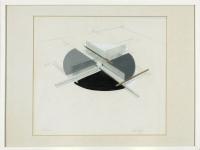 Zeichnung, Tusche, Bleistift, Farbe 56 x 48 cm