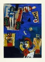 1992, Collage, Acryl, Ölkreide, 96 x 68 cm