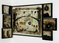 Papiermache,Kaffeesatz,Gelantine,106x140 cm