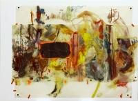 Collage, Mischtechnik auf Transparentpapier, 90 x 68 cm