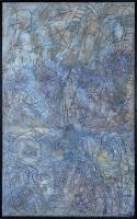 1984, Sand, Papiermaische, Ölfarbe , Holz
