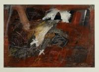 1986, Acryl, Kreide, Farbstift auf Papier, 100 x 70 cm