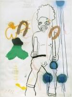 1997, Mischtechnik, handgeschöpftes Papier, 180 x 140 cm