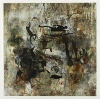 Öl auf Papier, 76 x 76 cm