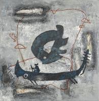 1988, BZ555, Öl auf Leinwand, 116 x 112 cm